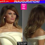 Melania Trump Rocks Voluminous Curls & Smokey Eye Makeup At Inaugural Ball