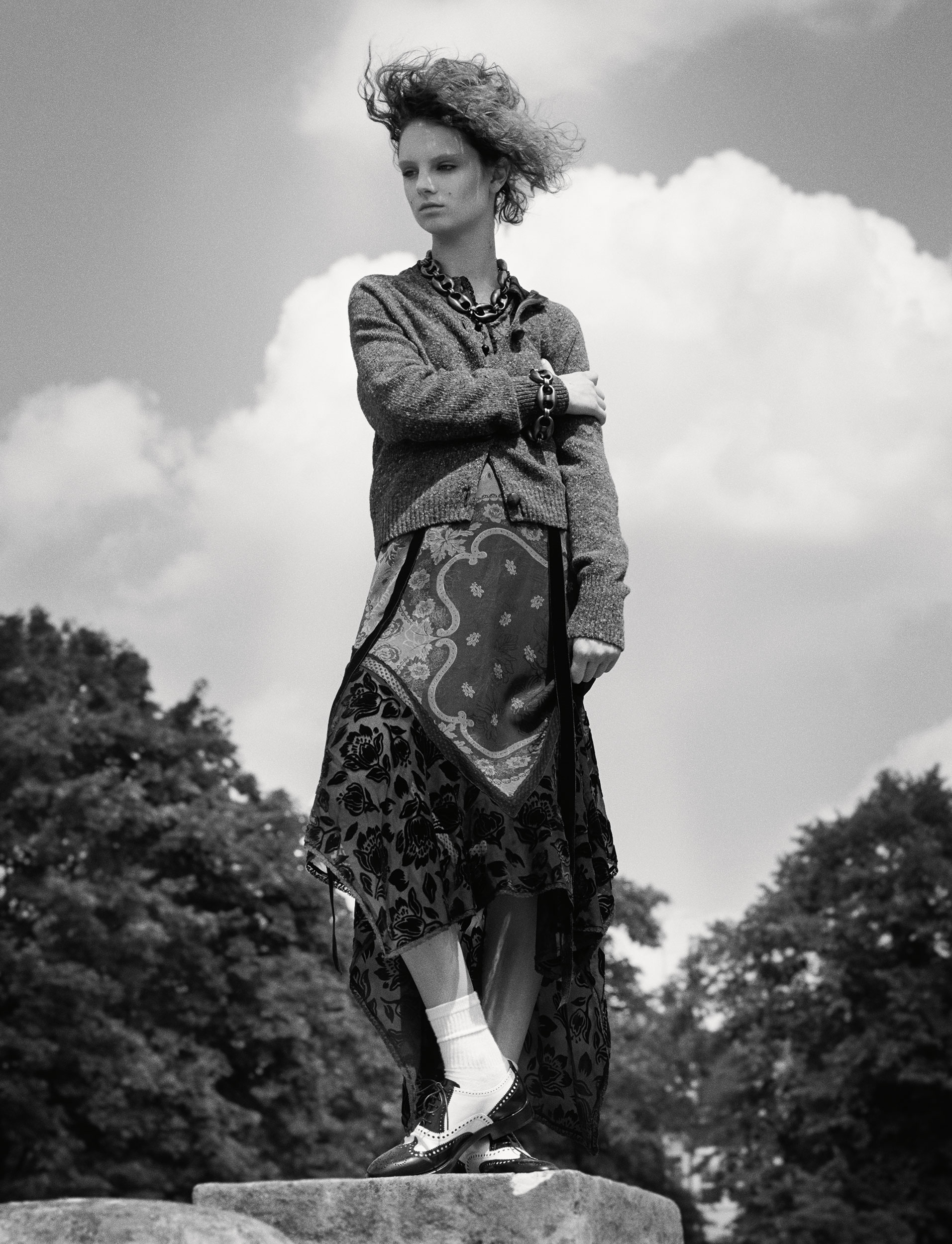 Giselle Norman by Theo Sion for i-D