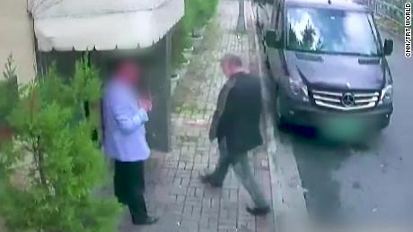 CCTV images show Jamal Khashoggi entering the Saudi consulate in Istanbul on October 2.