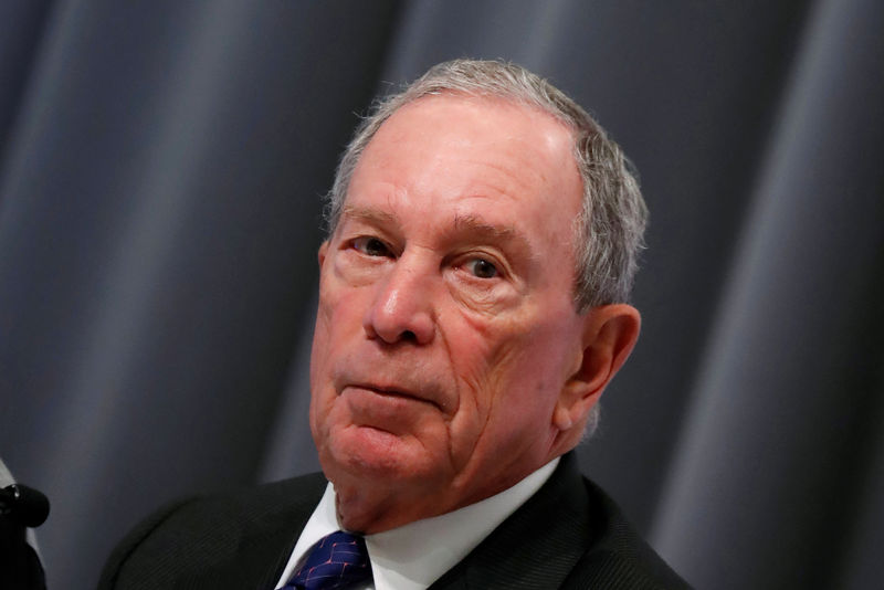 © Reuters. FILE PHOTO: Special envoy to the United Nations for climate change Michael Bloomberg attends a news conference during the One Planet Summit at the Seine Musicale center in Boulogne-Billancourt, near Paris