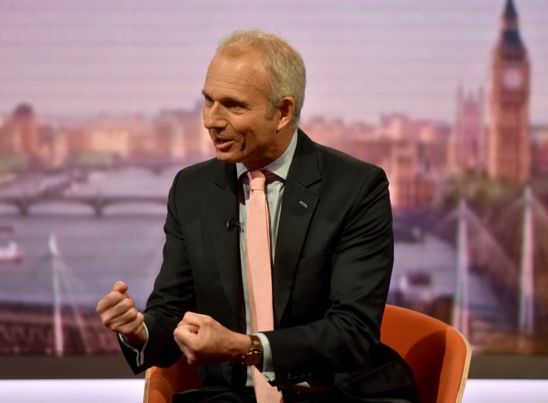 © Reuters. Britain's Minister for the Cabinet Office David Lidington appears on the Marr Show on BBC television in London