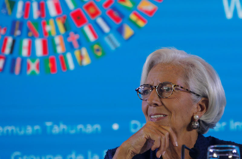 © Reuters. IMF Managing Director Christine Lagarde attends a news conference during International Monetary Fund - World Bank Annual Meeting 2018 in Nusa Dua, Bali