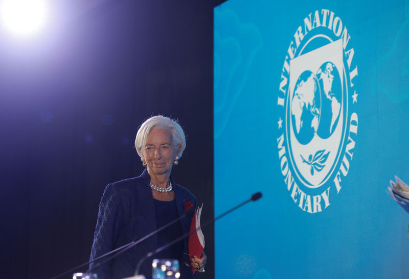 © Reuters. FILE PHOTO: IMF Managing Director Christine Lagarde attends a news conference during International Monetary Fund - World Bank Annual Meeting 2018 in Nusa Dua, Bali