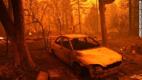 An unknown number of homes and buildings in Paradise have been destroyed by the Camp Fire.
