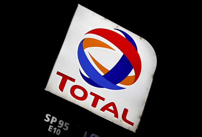 © Reuters. FILE PHOTO: The logo of French oil giant Total is pictured at a petrol station in Latresne near Bordeaux