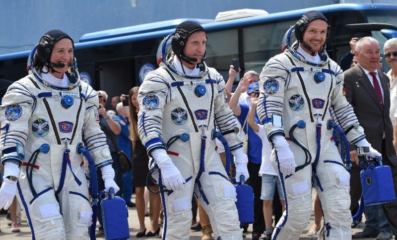 NASA astronaut Serena Aunon-Chancellor, Roscosmos cosmonaut Sergey Prokopyev and German astronaut Alexander Gerst set off in June