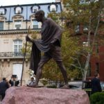 """Statue of """"Racist"""" Ghandi Removed From Ghana University Campus"""