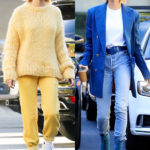 Hailey Baldwin Rocks Head-To-Toe Yellow One Day After Head-To-Toe Blue: Which Is Your Fave?
