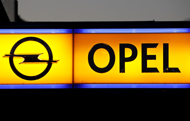 © Reuters. Logo of a German car manufacturer Opel is seen in Herisau