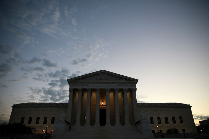 © Reuters. The exterior of the U.S. Supreme Court building in Washington
