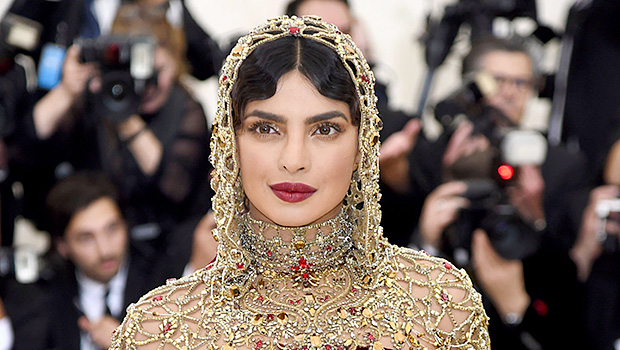 Priyanka Chopra Looks Gorgeous In Red Gown For Indian Wedding