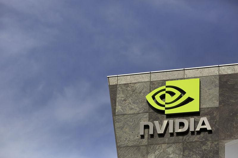 © Reuters. The logo of technology company Nvidia is seen at its headquarters in Santa Clara