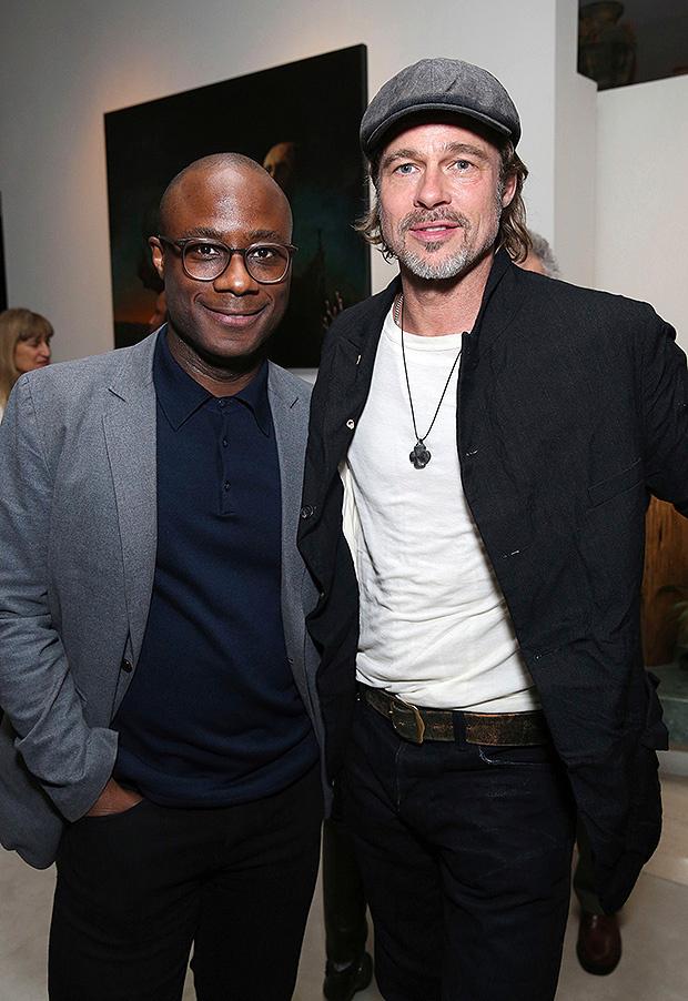 Brad Pitt & Barry Jenkins In LA