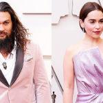 Jason Momoa Reunites With 'Game Of Thrones' Wife Emilia Clarke At Oscars: I 'Love' You