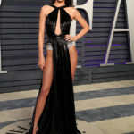 Kendall Jenner Risks Wardrobe Malfunction In Insane Double Slit Dress At Vanity Fair Party