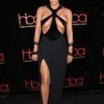 Kim Kardashian Risks Wardrobe Malfunction In Black Dress That Barely Covers Her Nipples