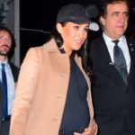 Meghan Markle Leaves Her Baby Shower in a Camel Coat and Workout Gear