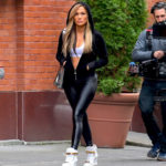 Jennifer Lopez Shows Off Her Perfect Butt Wearing Tight Black Spandex Pants On 'Hustlers' Set