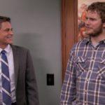 Chris Pratt & Rob Lowe Had a 'Parks & Rec' Reunion Involving Another Special Someone