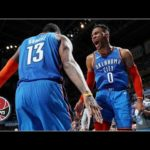 Russell Westbrook and Paul George combine for 56 points as Thunder beat Nets | NBA Highlights