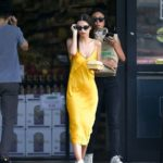 Emily Ratajkowski, Kylie Jenner & More Stars Rock Sexy Slip Dresses With Sneakers — Pics