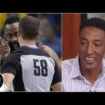Scottie Pippen doesn't like how refs treated James Harden in Rockets vs. Warriors Game 1 | The Jump