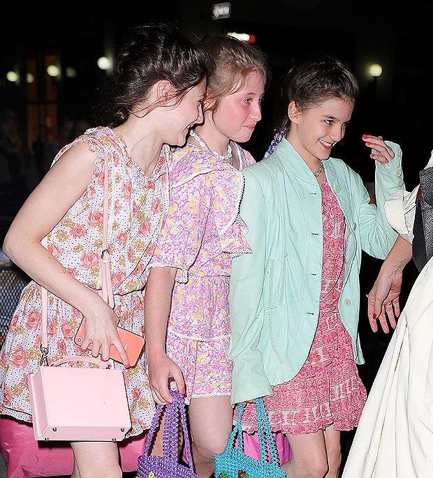Katie Holmes Treats Daughter Suri, 13, & Friends To A