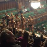Climate Change Activists Stripped Semi-Naked In British Parliament