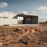 The Minimalist Concrete 'Sharp House' Is a Striking Desert Retreat