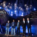 Harrison Ford dedicates Disneyland's new 'Star Wars' ride to late Chewbacca actor Peter Mayhew
