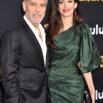 George Clooney's Wife Amal Joins Him At 'Catch-22' Premiere In Gorgeous Dark Green Mini Dress