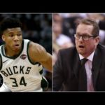 Raptors left 'frustrated' after Giannis gets away with apparent travels in Game 1 | The Jump