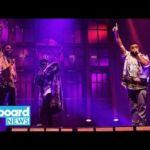 DJ Khaled Brings Star-Studded Entourage For 'SNL' Season Finale Performances   Billboard News