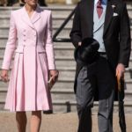 Kate Middleton Is Pretty in Pink at Queen's Garden Party With Prince William