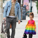 Ryan Gosling's Daughter, Esmeralda, 4, Wears Rainbow Dress As She Bonds With Dad On Day Out