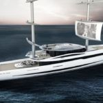 This Futuristic Yacht Lets You Watch Movies On the Sails