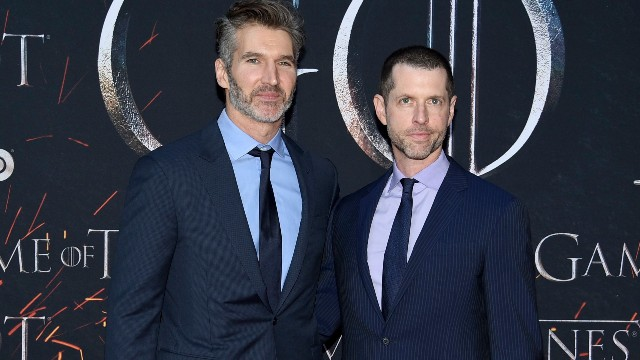 D. B. Weiss, David Benioff. Creator/executive producers David Benioff, left, and D. B. Weiss attend HBO's