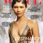 Zendaya Looks Drop-Dead Gorgeous In Plunging Sequin Gold Dress On 'VOGUE' Cover — Pics