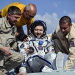 Russian, North American astronauts return to earth