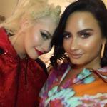 Demi Lovato Is the Cutest Christina Aguilera Fangirl at Las Vegas Show