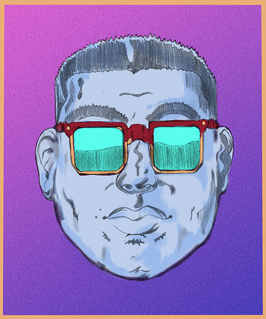 Custom illustration for Round face shape for best sunglasses for your face shape