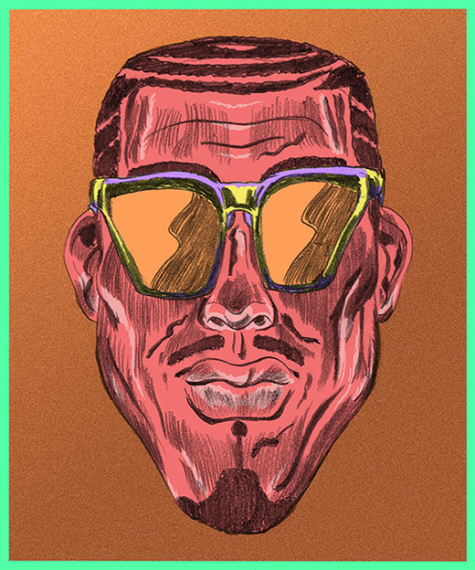 Custom illustration for Triangle Heart face shape for best sunglasses for your face shape