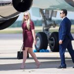 Tiffany Trump Rocks Ruby Mini Dress While Returning Home On Air Force One