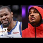 An injured KD is worth more than any Knicks player ever, including Melo – Stephen A. | First Take