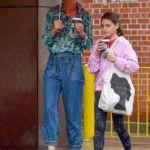 Katie Holmes Strolls Through The Rain With Look-Alike Daughter, Suri, 13, In NYC