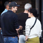 Ashton Kutcher Hits the Bar With Former Stepdaughter Rumer Willis