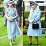 Kate Middleton, The Queen, Princess Beatrice, & Eugenie All Rock Blue For Royal Ascot — See Pics
