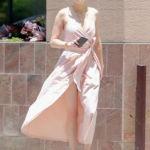 Amber Heard Risks Wardrobe Malfunction In High Slit Wrap Dress — See Pics