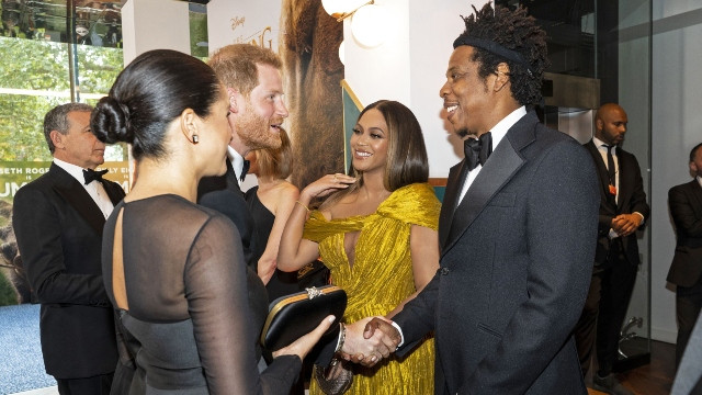 Meghan Markle and Prince Harry meet Beyonce and Jay-Z.