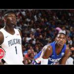 Zion Williamson vs. RJ Barrett cut short due to California earthquake | 2019 NBA Summer League